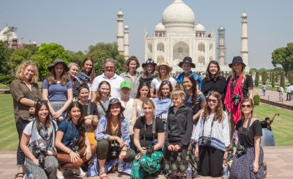 2015 UQ Journalism New Colombo Plan students in India