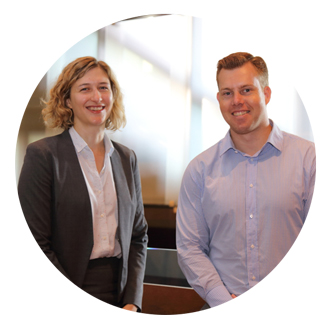 Caitlin Goss and Matt Watson, LEAD Academic Mentors