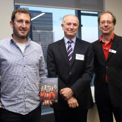 Dr Ron Levy, Justice Peter Applegarth and Professor Graeme Orr