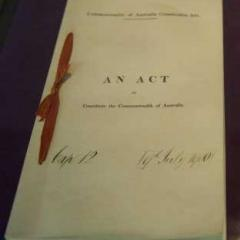 Constitution of Australia, photo by Superegz, CC 4.0, via Wikimedia Commons