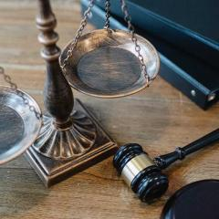scales and gavel on a desk