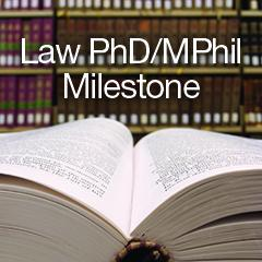 Law PhD Milestone