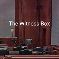 the witness box in a courtroom