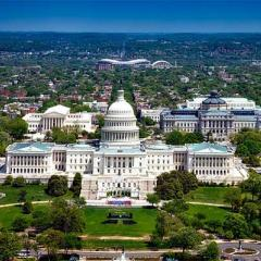 aerial view of Whitehouse, Washington DC