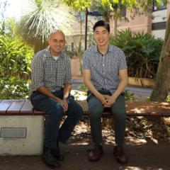 Professor Anthony Cassimatis and Matthew Tsai