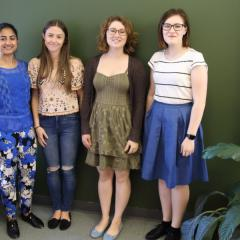 Ameera Ismail, Amelia Bell, Isabelle Shoshani and Helen Booth