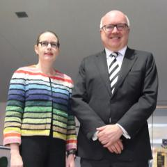 Professor Sarah Derrington and Senator the Honourable George Brandis QC