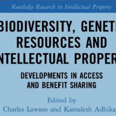 Biodiversity, genetic resources and intellectual property book cover