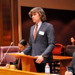 Marty Doyle mooting at the 2018 Aboriginal and Torres Strait Islander Students' Moot