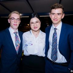 2020 Sir Harry Gibbs Constitutional Law Moot Competition team, Thomas Moore, Jackie Sung and Nick Wray-Jones.