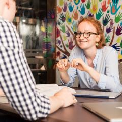UQ Pro Bono student working with client