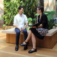 Edward Watson and UQ Pro Bono Centre Director Monica Taylor
