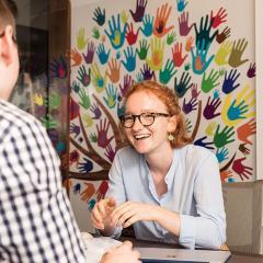 students talking at the UQ Pro Bono centre